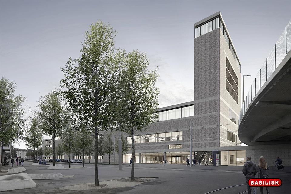 So soll der Neubau beim Bahnhof St. Johann aussehen.