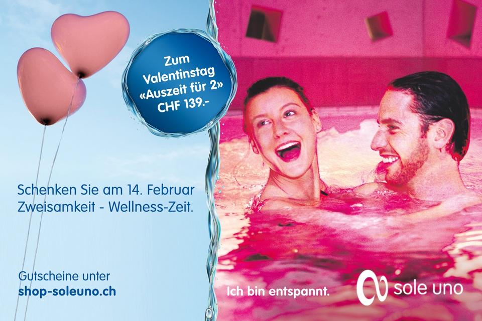 Radio Basilisk Und Sole Uno Schenkt Ihnen Am Valentinstag Eine Auszeit Für  2 In Der Wellness Welt Sole Uno. Mitmachen Können Sie Per SMS (CHF 0.90/SMS ).