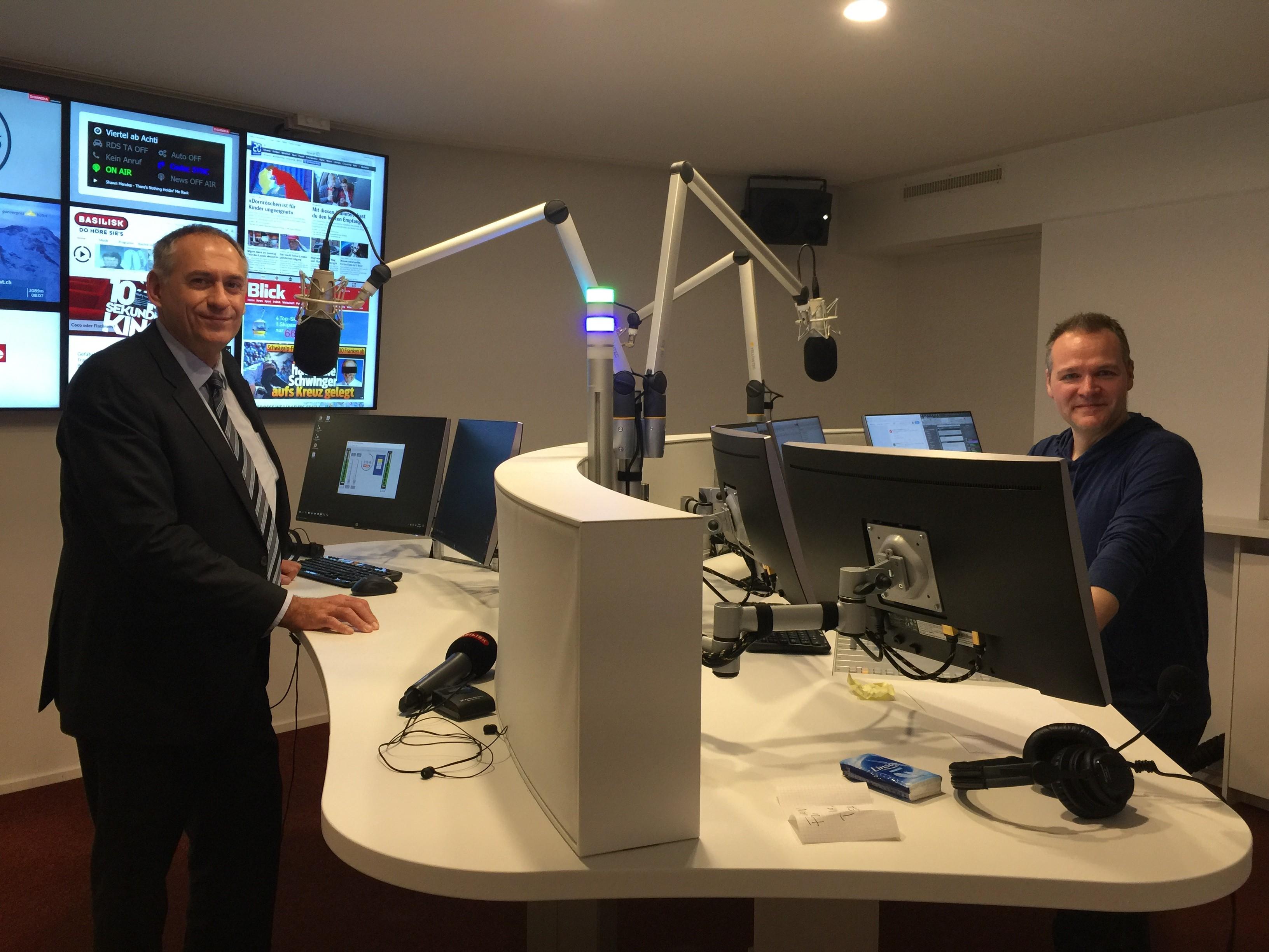 Regierungsrat Hans-Peter Wessels bei Jean-Luc Wicki in der Morgenshow zu Gast.